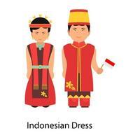 Indonesian Dress culture vector