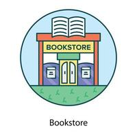 Bookstore building showing vector