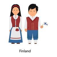 Finland Attire wearing vector