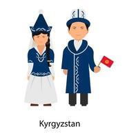 Modern Kyrgyzstan Dress vector