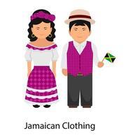 Trendy Jamaican Clothing vector