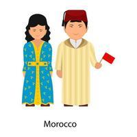 ropa marroquí moderna vector