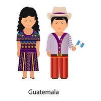 traje nacional de guatemala vector