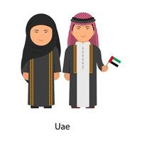 UAE Outfit couple vector