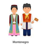 Montenegro Dress attire vector