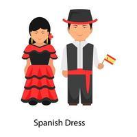 traje de vestir español vector