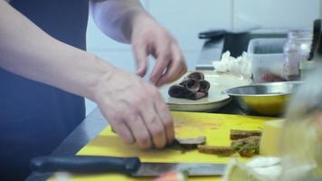 A Chef Prepping a Savory Meat Dish video