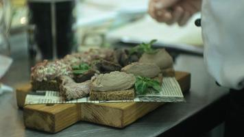 Savory Pate Prepared and Ready to Be Served video