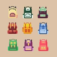 Bag Collection schoolbags colorful vector