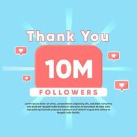 thank you for 10M Followers vector