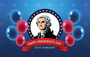 happy presidents day poster with george washington vector