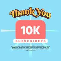 Celebrate thank you for 1M Subscribers vector