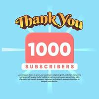 Celebrate thank you for 1000 Subscribers vector