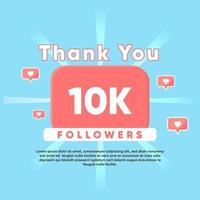 thank you for 10K Followers vector