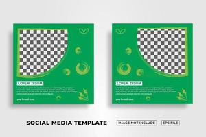 Social Media Post Template about kids vector