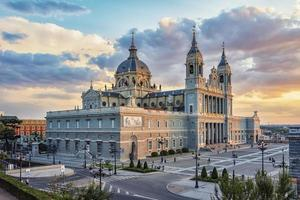 Almudena Cathedral in Madrid  Spain photo