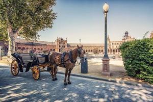 Plaza de España en Sevilla Andalucía España foto