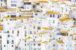 White houses in Casares village Andalusia photo