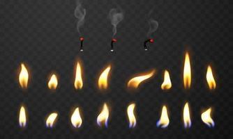 llamas de fuego ardiendo al rojo vivo chispas fondo abstracto realista vector