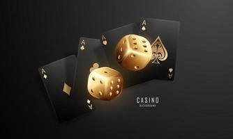 Playing card Winning poker hand casino chips flying realistic tokens for gambling cash for roulette or poker vector