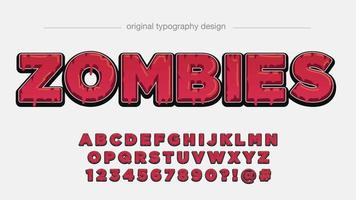 Red Dripping Uppercase Typography vector