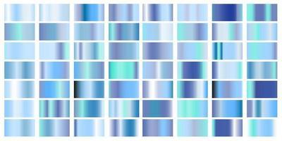 Set of blue Pastel gradient color foil texture background vector