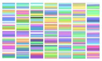 Set of colorful gradient color foil texture background vector