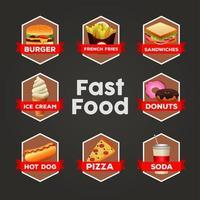 deliciosa plantilla de menú de paquete de comida rápida vector