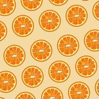 citrus fruit poster with oranges pattern vector