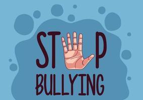 dejar de intimidar a las letras y detener la mano vector