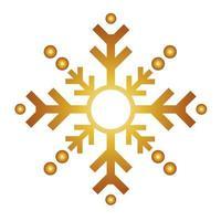 happy merry christmas golden snowflake icon vector