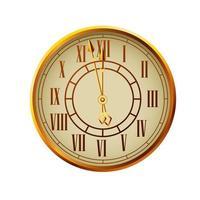 happy new year golden watch celebration vector