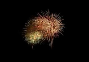 Colorful fireworks explosion in annual festival photo