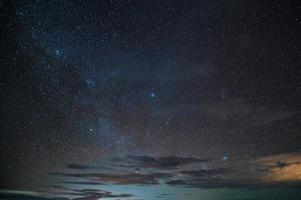 Starry glowing in the night sky photo