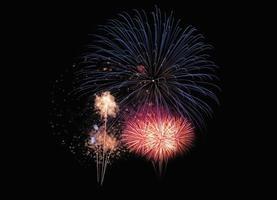Explosión de fuegos artificiales coloridos festivos abstractos foto