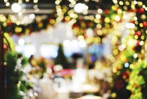 Fondo de Navidad bokeh borrosa abstracta foto