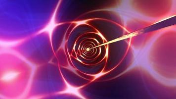 Pink purple spectrum futuristic neon lines loop rotating video