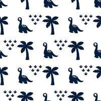 Seamless Pattern with cute Dinosaur cartoon vector