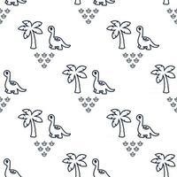 Seamless Pattern with Dinosaur vector