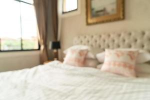 Interior de dormitorio borroso abstracto para el fondo foto