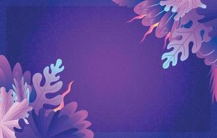Purple Tropical Background vector