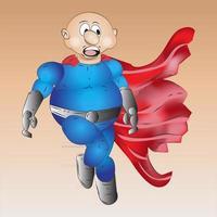 Superhero Cartoon Character Illustration vector