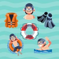 Swimming Starter Pack vector
