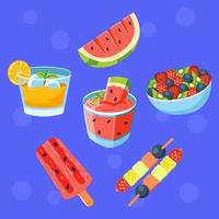 Fresh Fruit Drink and Food vector