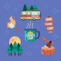 Summer Camp in The Night vector