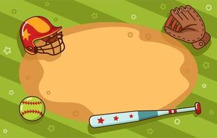 Summer Softball Background vector