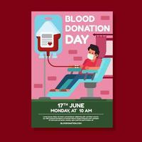 Activism Blood Donation Day Poster vector