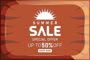 summer sale promotion wooden banner or poster vector