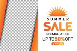 summer sale promotion simple banner or poster vector