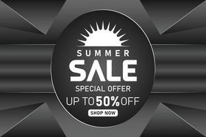 summer sale black elements promotion banner or poster vector
